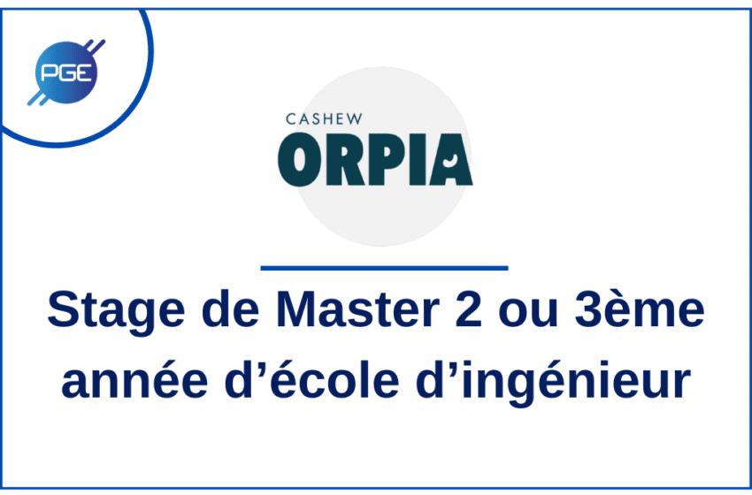 ORPIA – Stage de Master 2 ou 3ème année d'école d'ingénieur