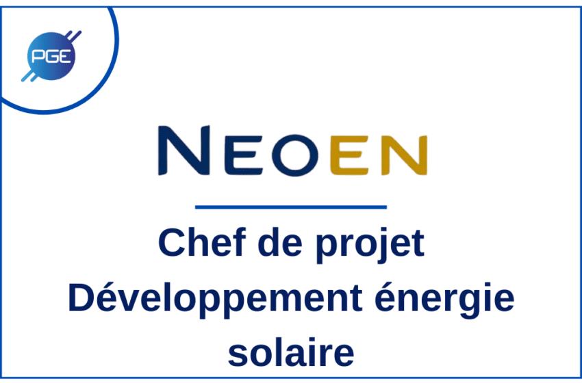 NEOEN : Chef de projet – Développement énergie solaire