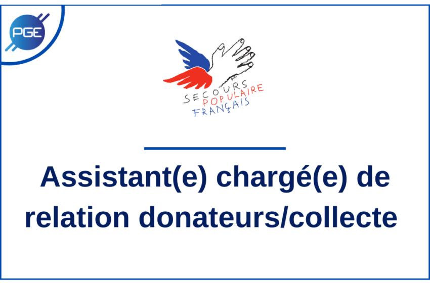 Le Secours Populaire : Assistant(e) chargé(e) de relation donateurs/collecte