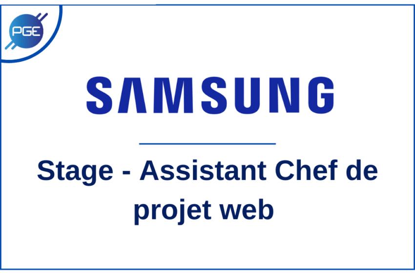 SAMSUNG : Assistant Chef de projet web (stage)