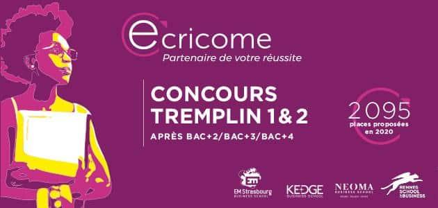 NOUVELLES MODALITÉS POUR LES CONCOURS ECRICOME TREMPLIN 1&2