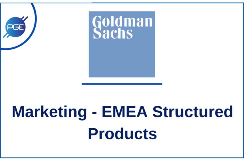 GOLDMAN SACHS – Marketing