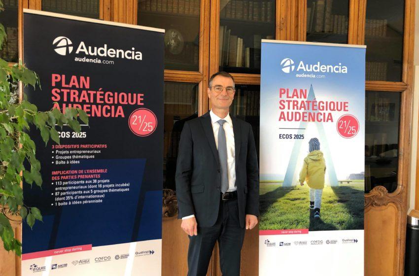 Stratégie ECOS 2025 d'Audencia : nouveau campus au Brésil, hybridation renforcée, RSE