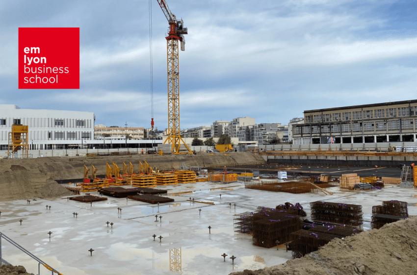 Le nouveau campus d'emlyon à Gerland ouvrira en janvier 2024